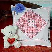 Для дома и интерьера handmade. Livemaster - original item A gift for your favorite. Linen pillowcase with embroidery.. Handmade.