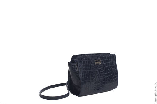 Женские сумки ручной работы. Ярмарка Мастеров - ручная работа. Купить Натуральная кожа сумочка 27 темно-синяя. Handmade.