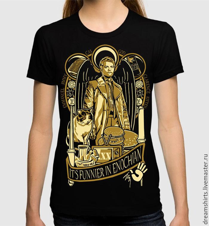 "Футболка с принтом ""Supernatural - Кастиэль"", T-shirts, Moscow,  Фото №1"