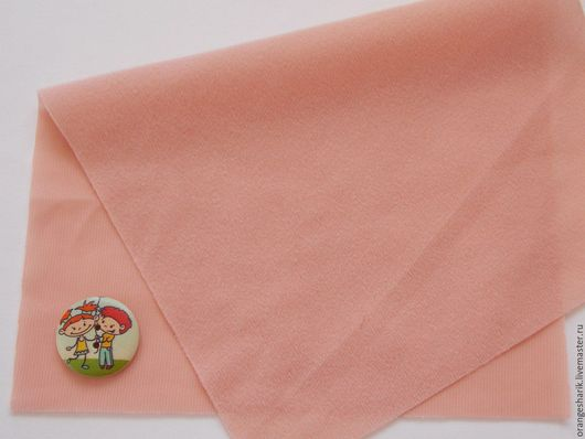 Другие виды рукоделия ручной работы. Ярмарка Мастеров - ручная работа. Купить Велкроткань неклеевая Бледно-розовая. Handmade. Бежевый