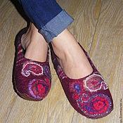 Обувь ручной работы. Ярмарка Мастеров - ручная работа Тапочки 3000 р. Handmade.