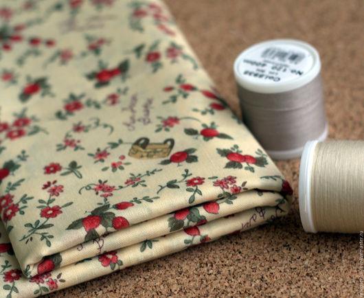 Шитье ручной работы. Ярмарка Мастеров - ручная работа. Купить Ткань для пэчворка и шитья. Хлопок 100%.. Handmade. Ярко-красный