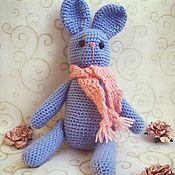 Куклы и игрушки ручной работы. Ярмарка Мастеров - ручная работа Зайка в шарфе. Handmade.