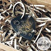 Адресники ручной работы. Ярмарка Мастеров - ручная работа Адресник для собаки MABEL. Handmade.