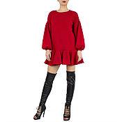 Одежда handmade. Livemaster - original item Sweater dress.Red sexy dress AM. Handmade.