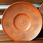 Посуда ручной работы. Ярмарка Мастеров - ручная работа Тарелка с выгравированным орнаментом. Handmade.
