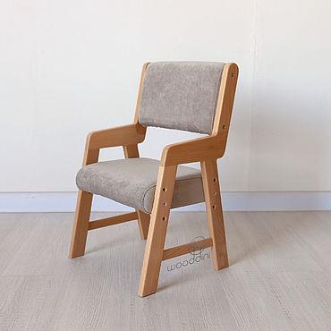 Мебель ручной работы. Ярмарка Мастеров - ручная работа Стул буковый растущий серый Альмо миди. Handmade.