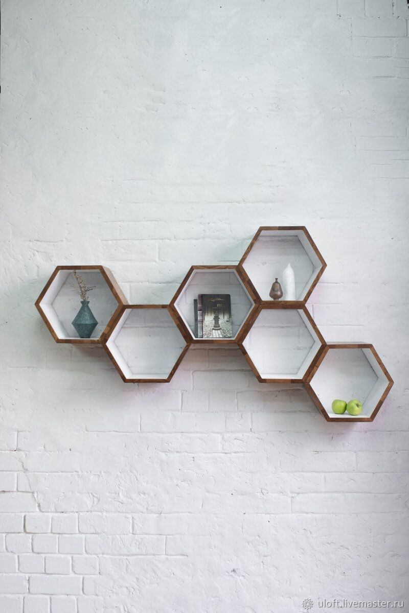 Shelves-honeycomb solid oak 'Honeycomb MAXI', Shelves, Ivanovo,  Фото №1