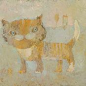 """Картины и панно ручной работы. Ярмарка Мастеров - ручная работа Картина """"Кот, что гуляет сам по себе"""". Handmade."""