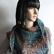 Аксессуары handmade. Livemaster - original item Openwork pure wool shawl (bactus). Handmade.