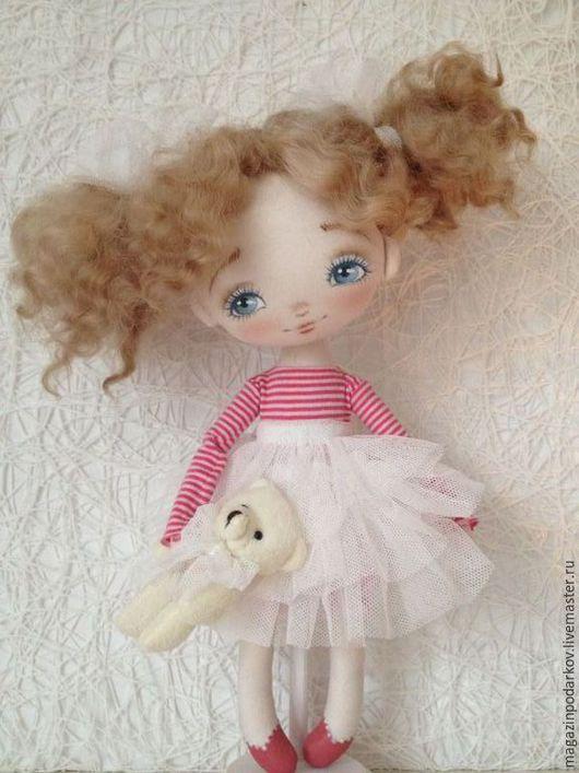 Коллекционные куклы ручной работы. Ярмарка Мастеров - ручная работа. Купить Кукла малышка Маняша. Handmade. Розовый, кукла интерьерная