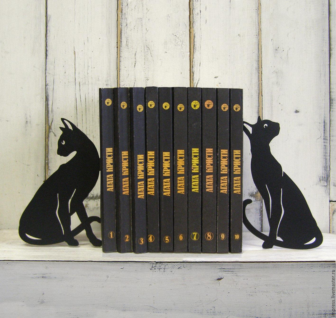 Упоры для книг Черная кошка, Журнальницы, Тверь, Фото №1