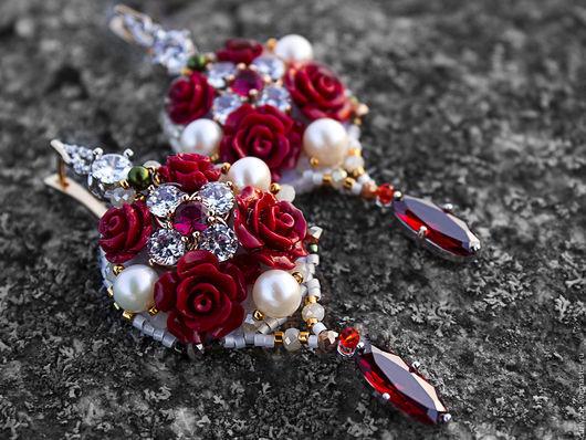 """Серьги ручной работы. Ярмарка Мастеров - ручная работа. Купить Позолоченные серьги по мотивам Dolce & Gabbana  """" Rush """". Handmade."""