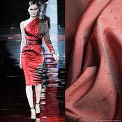 Ткани ручной работы. Ярмарка Мастеров - ручная работа Шантунг 100% шелк красный малиновый Италия. Handmade.