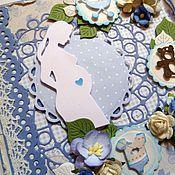 Открытки ручной работы. Ярмарка Мастеров - ручная работа Открытка для будущей мамочки. Handmade.