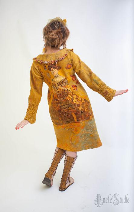"""Верхняя одежда ручной работы. Ярмарка Мастеров - ручная работа. Купить Пальто """"Золотая Адель"""". Handmade. Пальто из войлока, замша"""