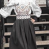 Одежда ручной работы. Ярмарка Мастеров - ручная работа Платье с вышивкой СЖ 185. Handmade.