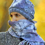 Аксессуары ручной работы. Ярмарка Мастеров - ручная работа Дизайнерский шарф и шапочка ручной работы. Handmade.