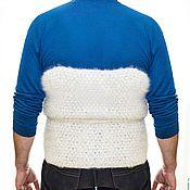 Одежда handmade. Livemaster - original item Belt warms Samoyed white. Handmade.
