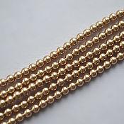 Материалы для творчества handmade. Livemaster - original item Swarovski pearls 3 mm. Bright gold. Handmade.