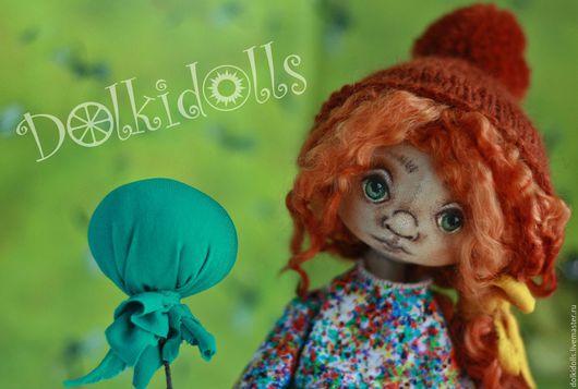 рыжий, кукла рыжая, кукла текстильная, кукла интерьерная, коллекционная кукла, авторская текстильная кукла, шарнирная кукла, авторская кукла ручной работы