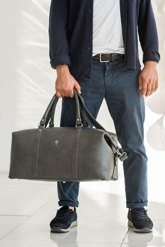 Спортивные сумки ручной работы. Ярмарка Мастеров - ручная работа. Купить Дорожная сумка Sport. Handmade. Серый, чемодан