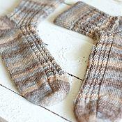 Аксессуары ручной работы. Ярмарка Мастеров - ручная работа Вязаные мужские носки sand. Handmade.