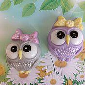 Косметика ручной работы handmade. Livemaster - original item Soap Owl with bow. Handmade.