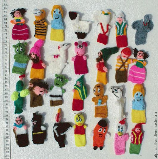 Человечки ручной работы. Ярмарка Мастеров - ручная работа. Купить Пальчиковые куклы. Handmade. Разноцветный, альпака, перуанская лама, лама