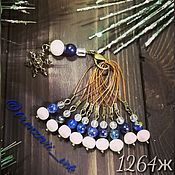 Материалы для творчества handmade. Livemaster - original item Markers for knitting with natural pearls and lapis lazuli. Handmade.