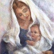 Картины и панно handmade. Livemaster - original item Picture of wool Ave Maria. Handmade.