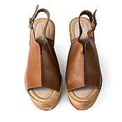 Обувь ручной работы. Ярмарка Мастеров - ручная работа Босоножки на платформе Shabazzle. Handmade.