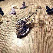 Серьги классические ручной работы. Ярмарка Мастеров - ручная работа Серьги из эпоксидной смолы. Handmade.