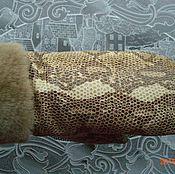 Аксессуары ручной работы. Ярмарка Мастеров - ручная работа варежки кожанные бежевые. Handmade.