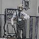 Коллекционные куклы ручной работы. Авторская кукла из глины Гарри Олдстер. Катя Минакова (Katiedda). Ярмарка Мастеров. Монохром
