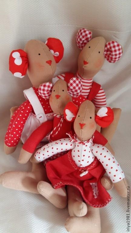 Куклы Тильды ручной работы. Ярмарка Мастеров - ручная работа. Купить Семейство мышек. Handmade. Разноцветный, семья