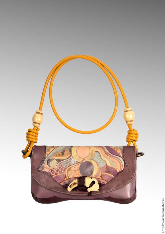 """Женские сумки ручной работы. Ярмарка Мастеров - ручная работа. Купить Клатч Гусляр """"Самовар"""". Handmade. Комбинированный, сумка кожаная"""