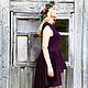 """Платья ручной работы. Ярмарка Мастеров - ручная работа. Купить Платье """"Lilac Branch"""". Handmade. Тёмно-фиолетовый, сиреневый, платье"""
