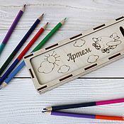 Канцелярские товары handmade. Livemaster - original item Wooden name pencil case. Handmade.