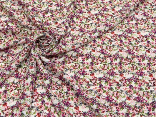 Шитье ручной работы. Ярмарка Мастеров - ручная работа. Купить ткань штапель нежные цветы  беж. Handmade. Комбинированный