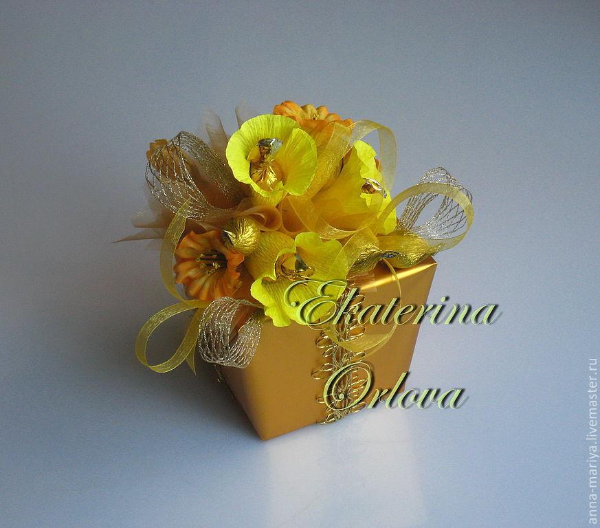 Коробка конфет украшенная своими руками
