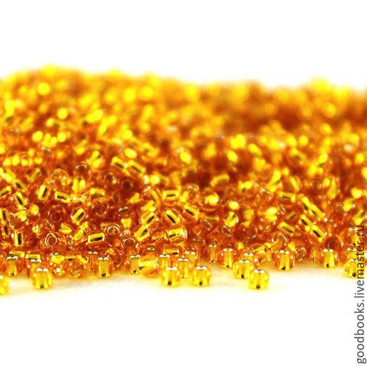 Для украшений ручной работы. Ярмарка Мастеров - ручная работа. Купить Бисер TOHO круглый 11 #0030 Прозрачный, оранжевый. Handmade.