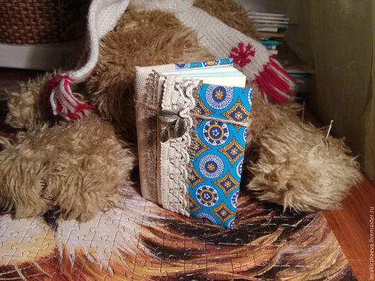 Блокноты ручной работы. Ярмарка Мастеров - ручная работа. Купить Блокнот ручной работы. Handmade. Комбинированный, блокнот, хлопковая ткань