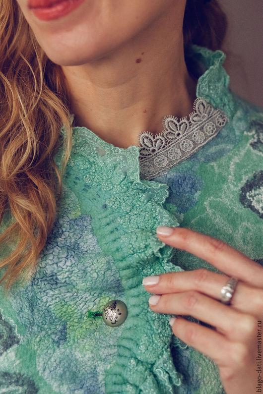 """Пиджаки, жакеты ручной работы. Ярмарка Мастеров - ручная работа. Купить Жакет """"Fairy tale mint"""". Handmade. Комбинированный, лето"""