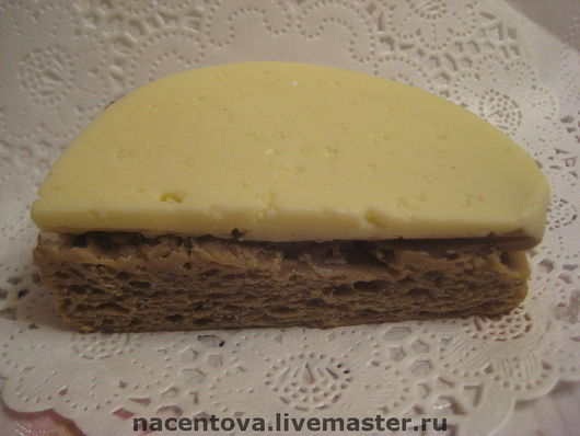 """Мыло ручной работы. Ярмарка Мастеров - ручная работа. Купить Мыло """"Бутерброд с сыром"""". Handmade. Разноцветный, мыло ручной работы"""