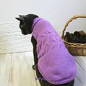 Для домашних животных, ручной работы. Ярмарка Мастеров - ручная работа Удлиненный свитер для котов и кошек.. Handmade.