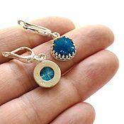 Украшения handmade. Livemaster - original item Pendant and earring Stone flower (cavansite, 925 sterling silver). Handmade.