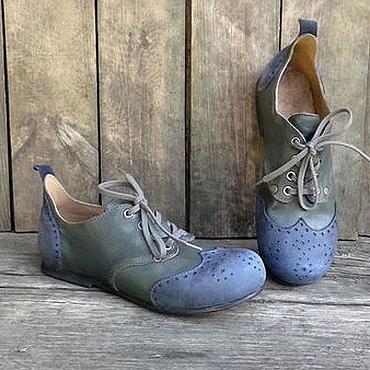 Обувь ручной работы. Ярмарка Мастеров - ручная работа Кожаные полуботинки ETCETERA. Handmade.