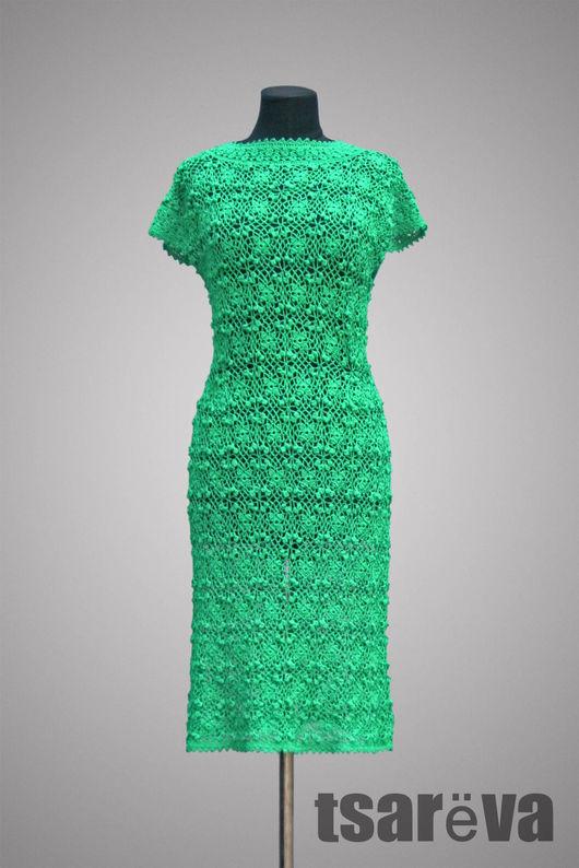 Платья ручной работы. Ярмарка Мастеров - ручная работа. Купить Россыпь изумрудов. Handmade. Зеленый, платье коктейльное