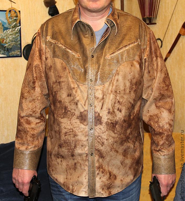b50040bb4c70c9e Кожаная рубашка – купить в интернет-магазине на Ярмарке Мастеров с ...